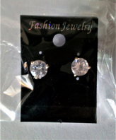 Large clear stone stud earrings (Code 3289)